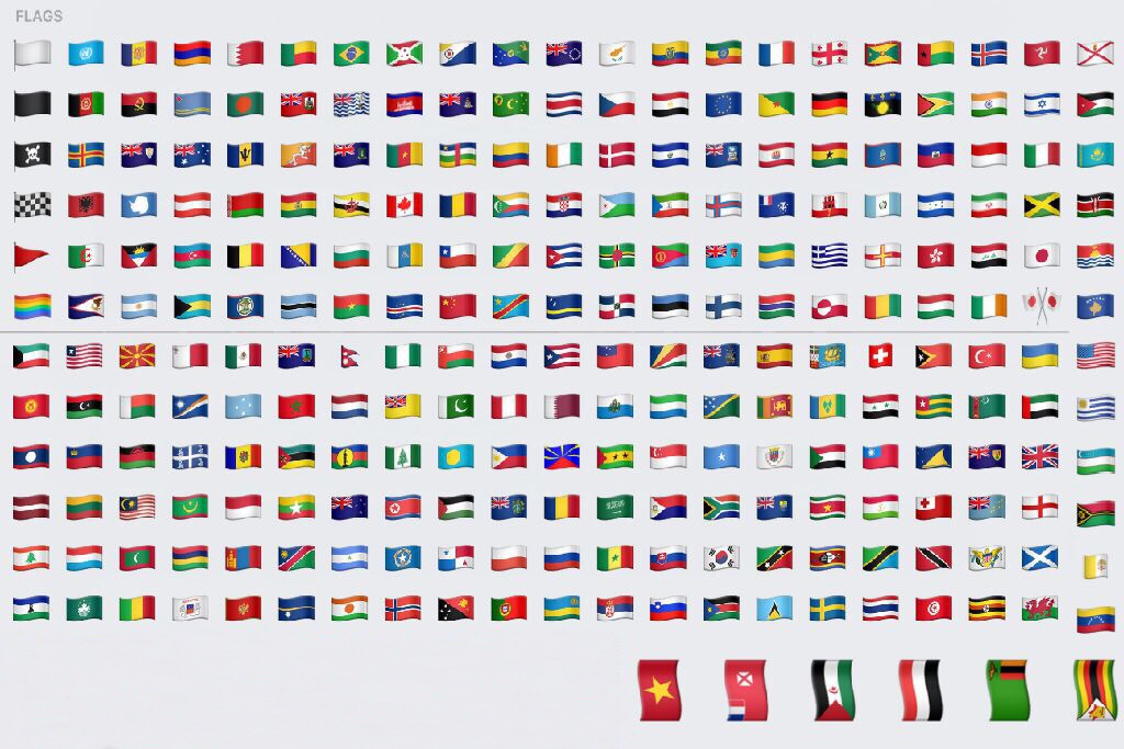 link= Flags of Countries in alphabetical order from upper left to lower right in picture